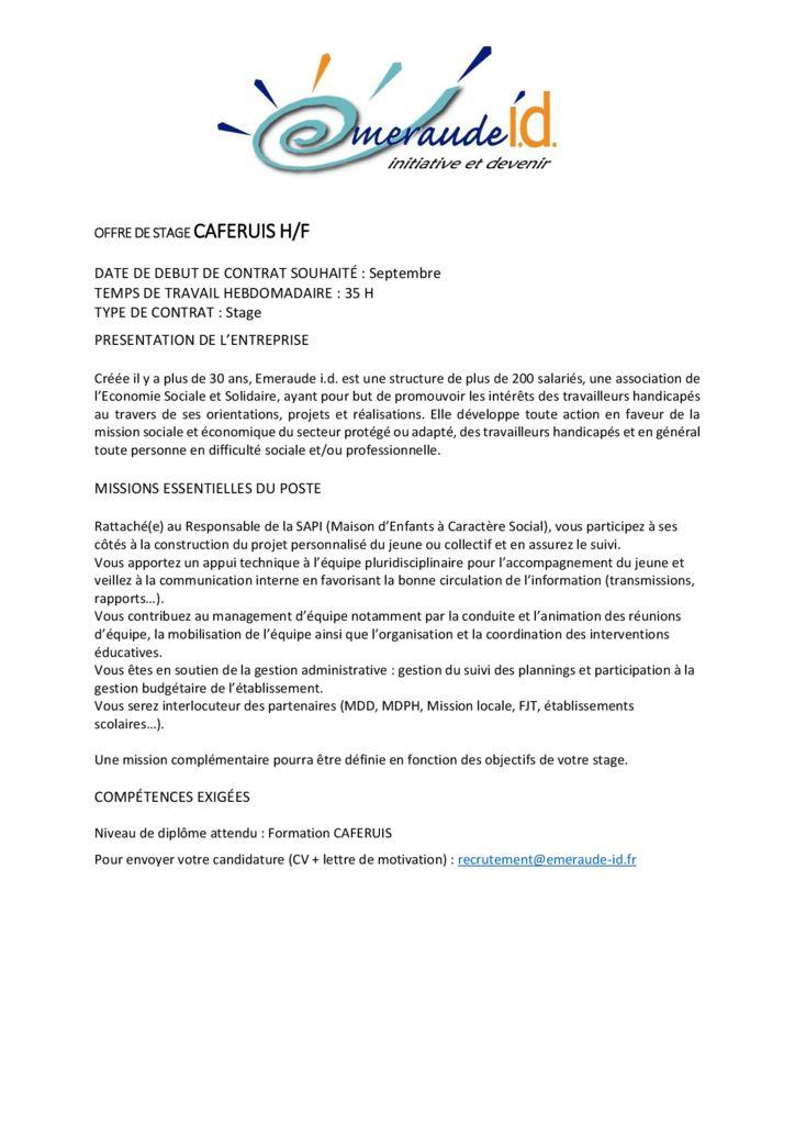 Exemple De Demande De Stage Esat / Lettre De Motivation ...