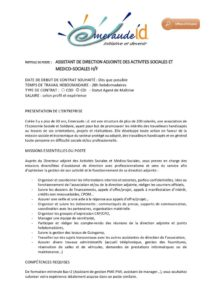 thumbnail of Offre d'emploi – Assistant direction ASMS